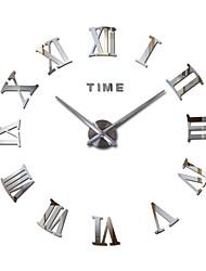 Недорогие -3d большое акриловое зеркало настенные часы diy кварцевые часы натюрморт часы современные украшения дома
