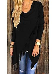 billige -Dame - Ensfarvet Patchwork Skjorte