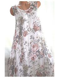preiswerte -Midi-Tunika-Kleid für Damen Lila Pink Orange S M L XL