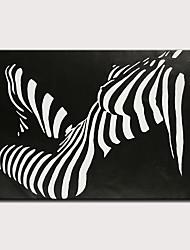 Недорогие -Hang-роспись маслом Ручная роспись - Люди Телесный Современный Классика Без внутренней части рамки / Рулонный холст