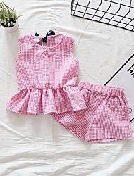 זול -סט של בגדים ללא שרוולים דפוס בנים ילדים