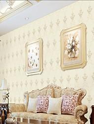 abordables -Paño de pared No tejido Revestimiento de pared - adhesiva requerida Floral / Art Decó / 3D