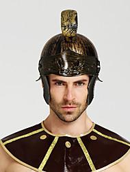 baratos -Gladiadoras Roma antiga Ocasiões Especiais Homens Capacete chapéu Dourado / Prata + Gray / Red + Golden Vintage Cosplay Halloween Mascarilha