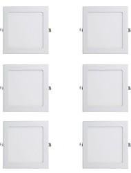 Недорогие -6шт 12 W 900 lm 48 Светодиодные бусины Простая установка Встроенные LED даунлайт Тёплый белый Холодный белый 220-240 V Деловой Дом / офис Спальня / CE / 150