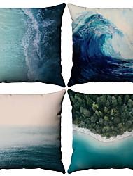 Χαμηλού Κόστους -4.0 τεμ Βαμβάκι / Λινό Μαξιλαροθήκη, Μοτίβο Ναυτικό Εμπνευσμένο από τη Φύση Στυλ Παραλίας