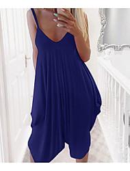 billige -kvinners asymmetriske tunika kjole stropp fuchsia svart blå s m l xl