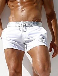 Недорогие -Муж. Размер ЕС / США Белый Черный Мальчик ноги Трусики, шорты и т.д. Купальники - Однотонный L XL XXL Белый