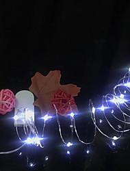 baratos -1m Cordões de Luzes 20 LEDs Branco Quente Impermeável / Festa / Decorativa 5 V 10pçs