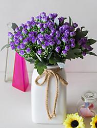 お買い得  -人工花 5 ブランチ クラシック ステージ用小道具 田園 スタイル バラ 植物 テーブルトップフラワー