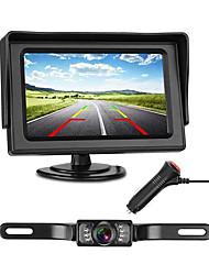 Недорогие -772 4 дюймовый TFT-LCD 480TVL 480 ТВ линий 1/4 дюймовый цветной CMOS с высоким разрешением Проводное 170° 1 pcs 135 ° 4.3 дюймовый Камера заднего вида / Автомобильный реверсивный монитор LED
