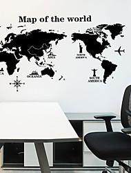 olcso -Dekoratív falmatricák - Térkép Wall Stickers Landscape Nappali szoba / Hálószoba / Konyha