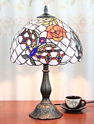 abordables -12 pouces lumière de bureau artistique / fleur rose tiffany lampes ambiantes décoratif belle lampe de table pour résine intérieure chambre 110-120v 220-240v 40w * 1 ampoule non inclus