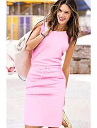 Χαμηλού Κόστους -Γυναικεία Βασικό Θήκη Φόρεμα Ως το Γόνατο