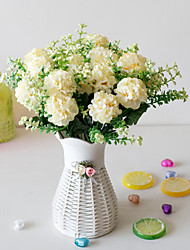 abordables -Fleurs artificielles 5 Une succursale Classique Accessoires de Scène style pastoral Hortensias Fleurs éternelles Fleur de Table
