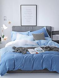 preiswerte -Bettbezug-Sets Luxus / Stripes / Ripples / Böhmische Polyester Bedruckt 4 StückBedding Sets
