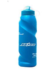 Недорогие -Велоспорт Бутылки для воды Компактность Легкость Износостойкий Назначение Велоспорт Шоссейный велосипед Горный велосипед пластик Синий