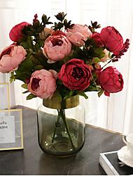 Недорогие -Искусственные Цветы 1 Филиал Классический Сценический реквизит Свадьба Пионы Вечные цветы Букеты на стол