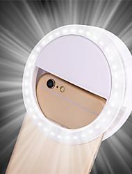 Недорогие -1 шт. Портативный клип селфи лампы мобильный телефон круг вспышка объектива красоты заполнить свет лампы для мобильного телефона смартфона