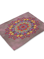 cheap -Contemporary Nonwoven Square Placemat Patterned Eco-friendly Table Decorations