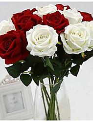 Недорогие -Искусственные Цветы 1 Филиал Классический Для вечеринки Свадьба Розы Вечные цветы Букеты на стол