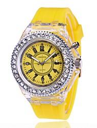 Недорогие -Для пары электронные часы Цифровой силиконовый Черный / Белый / Красный Повседневные часы Аналого-цифровые На каждый день - Желтый Красный Зеленый