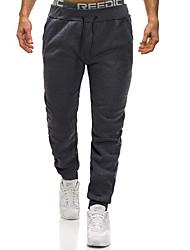 baratos -Homens Básico / Moda de Rua Chinos / Calças Esportivas Calças - Sólido Cinzento Escuro