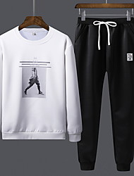 billige -Herre Afslappet Sweatshirt - Ensfarvet