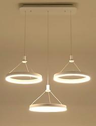 Недорогие -современная акриловая простота привела подвесные светильники три кольца закрытый свет для гостиной спальня, ресторан