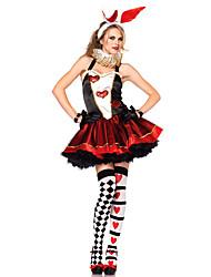 billige -Rabbit Mascot påskeharen Kjoler Hodeplagg Ører Voksne Dame Cosplay Påske Festival / høytid Blonde Polyester Rød Karneval Kostumer Kjærlighed