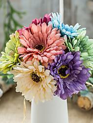 levne -Umělé květiny 1 Větev Klasické Jevištní doplňky Pastýřský Styl Chryzantéma Věčné květy Květina na stůl