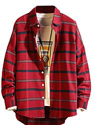 abordables -chemise homme - col chemise à carreaux