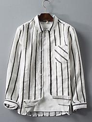 levne -pánská košile - pruhovaný límec košile