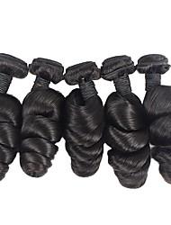 abordables -Lot de 6 Cheveux Brésiliens Ondulation Lâche Cheveux Vierges Naturel Tissages de cheveux humains Bundle cheveux One Pack Solution 8-28 pouce Couleur naturelle Tissages de cheveux humains Design