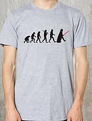저렴한 -남성 슬림 티셔츠 - 솔리드 컬러 라운드 넥