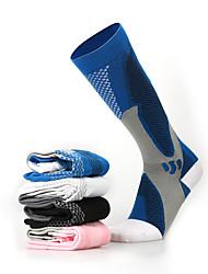 Недорогие -Муж. Жен. Носки для велоспорта компрессия Носки Дышащий Противозаносный Мягкий Впитывает пот и влагу Поддерживает Черный Синий Розовый Зима Шоссейный велосипед Горный велосипед Баскетбол Эластичная