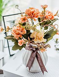 Χαμηλού Κόστους -Ψεύτικα λουλούδια 5 Κλαδί Κλασσικό Παραδοσιακό Ποιμενικό Στυλ Γαρύφαλλο Αιώνια Λουλούδια Λουλούδι για Τραπέζι