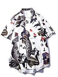 رخيصةأون -قميص للرجال - طوق القميص الأزهار