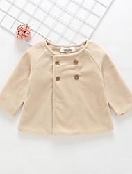 preiswerte -Baby Mädchen Aktiv / Grundlegend Solide Acryl / Polyester / Nylon Trenchcoat Beige