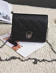رخيصةأون -نسائي أكياس PU حقيبة الكتف لون الصلبة أسود / أحمر / رمادي