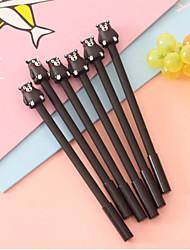 Недорогие -Пластиковый корпус Черный 12шт Гелевая ручка 17.5*12*1 cm
