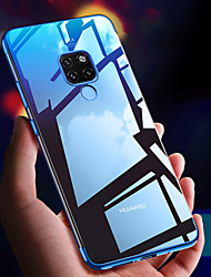 halpa -Etui Käyttötarkoitus Huawei Huawei Mate 20 Lite / Huawei Mate 20 Pro Pinnoitus / Ultraohut / Läpinäkyvä Takakuori Yhtenäinen Pehmeä TPU varten Mate 10 / Mate 10 pro / Mate 10 lite