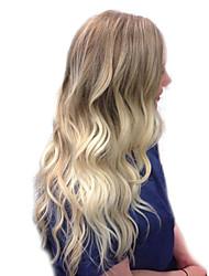 Χαμηλού Κόστους -Ανθρώπινες περούκες περούκες μαλλιών Φυσικά μαλλιά Κυματομορφή Σώματος / Bouncy Curl Πλευρικό μέρος Μοδάτο Σχέδιο / Νεό Σχέδιο / Απίθανο Πολύχρωμο Μακρύ Χωρίς κάλυμμα Περούκα Γυναικεία