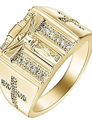 Недорогие -Муж. Жен. Кольцо 1шт Золотой Серебряный Сплав Подарок Повседневные Бижутерия