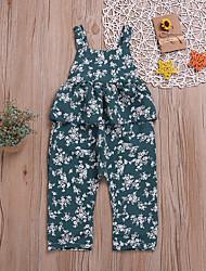voordelige -Baby Meisjes Standaard / Street chic Print Blote rug / Strik / Print Mouwloos Katoen Overall & Jumpsuit Klaver