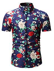 cheap -Men's Shirt - Floral Red XL