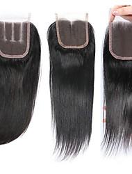 economico -1 pacchetto Brasiliano Liscio Capello vergine capelli naturali Remy Ciocche a onde capelli veri Extension di capelli umani 8-20inch Colore Naturale Tessiture capelli umani Neonato Cascata Carino