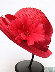 Недорогие -Жен. Активный Классический Симпатичные Стиль Соломенная шляпа Шляпа от солнца Полиэстер Солома,Однотонный Все сезоны Серый Хаки Тёмно-синий