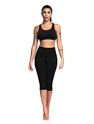 ราคาถูก -สำหรับผู้หญิง กางเกงโยคะ สีดำ เทาเงิน กีฬา สีทึบ Elastane ถุงน่องการขี่จักรยาน ด้านล่าง ยิมออกกำลังกาย ชุดทำงาน ระบายอากาศ นุ่ม ความยืดหยุ่นสูง สกินนี่