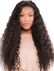 cheap -Synthetic Wig Deep Wave Style Middle Part Capless Wig Dark Brown Black / Brown Synthetic Hair 28 inch Women's Women Dark Brown Wig Long Natural Wigs