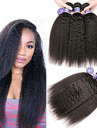 Недорогие -6 Связок Индийские волосы Яки Вытянутые Необработанные натуральные волосы 100% Remy Hair Weave Bundles Человека ткет Волосы Пучок волос One Pack Solution 8-28 дюймовый Нейтральный